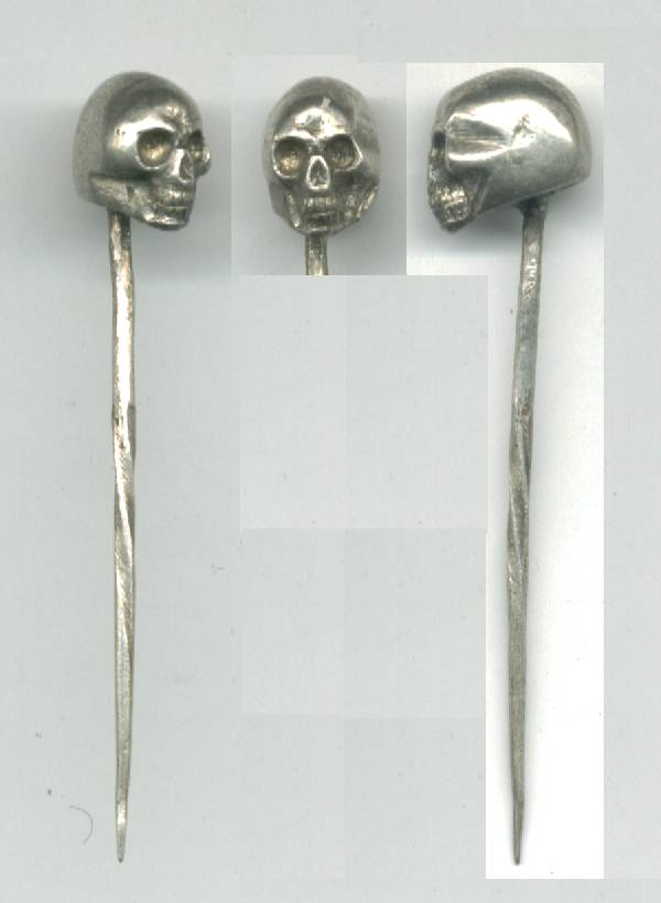 Recently Sold Items Listing WWII Germany NAZI SS skull silver tie